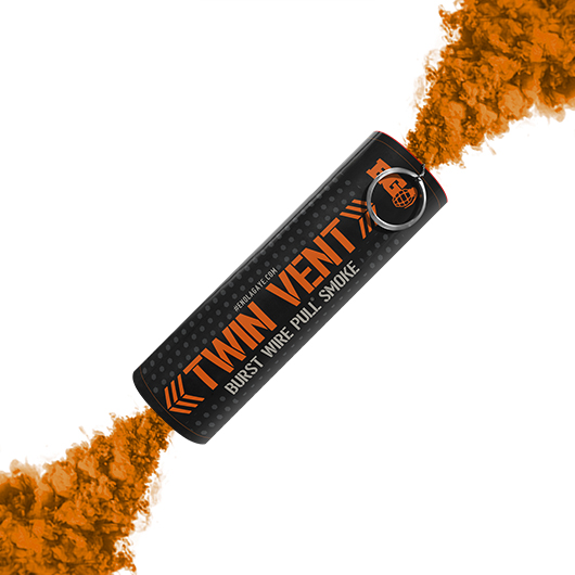 Orange Twin Vent Smoke Grenade