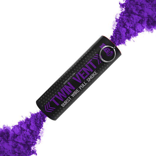 Purple Twin Vent Smoke Grenade
